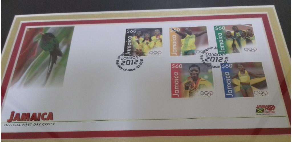 Usain Bolt, Shelly-Ann Fraser-Pryce stamps