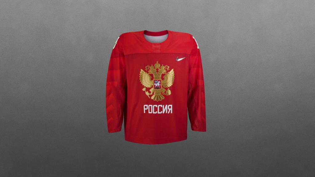 Russia Olympic hockey jersey