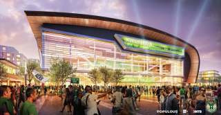 Milwaukee Bucks arena rendering 1