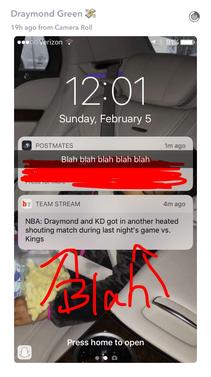 Drayymond Green snapchat
