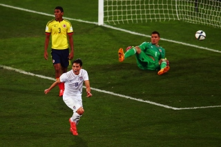 Scoring the winner for USA v Colombia at the 2015 U-20 World Cup.