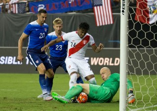 Geoff Cameron, left, back in action for the USMNT.