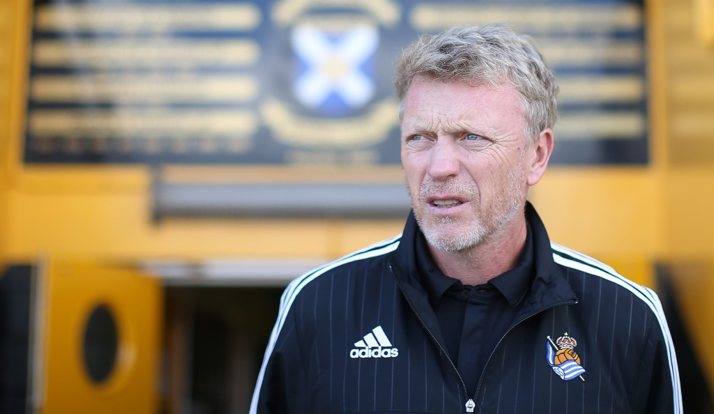 METHIL, SCOTLAND - JULY 12: David Moyes manager of Real Sociedad looks on during the pre season friendly match between St Johnstone and Real Sociedad at Bayview on July 12, 2015 in Methil, Scotland. (Photo by Ian MacNicol/Getty Images)