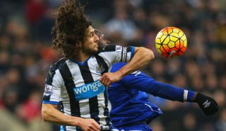 during the Barclays Premier League match between Newcastle United and Everton at St James' Park on December 26, 2015 in Newcastle upon Tyne, England.