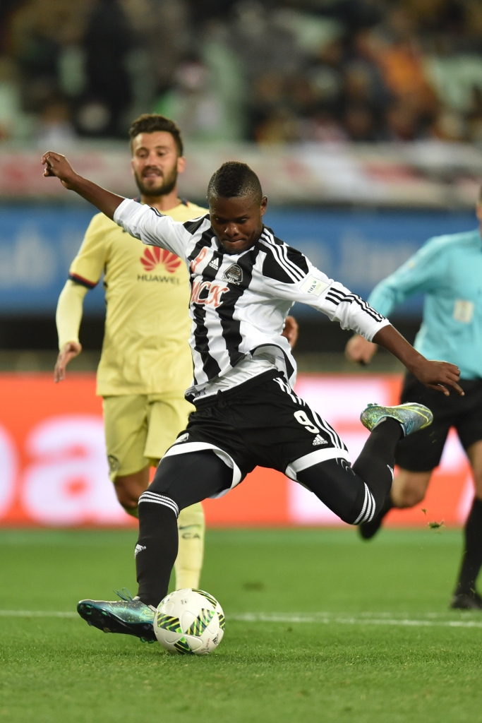 OSAKA, JAPAN - DECEMBER 16: Mbwana Samatta of TP Mazembe in action during the FIFA Club World Cup fifth place match between Club America and TP Mazembe at Osaka Nagai Stadium on December 16, 2015 in Osaka, Japan. (Photo by Atsushi Tomura/Getty Images)