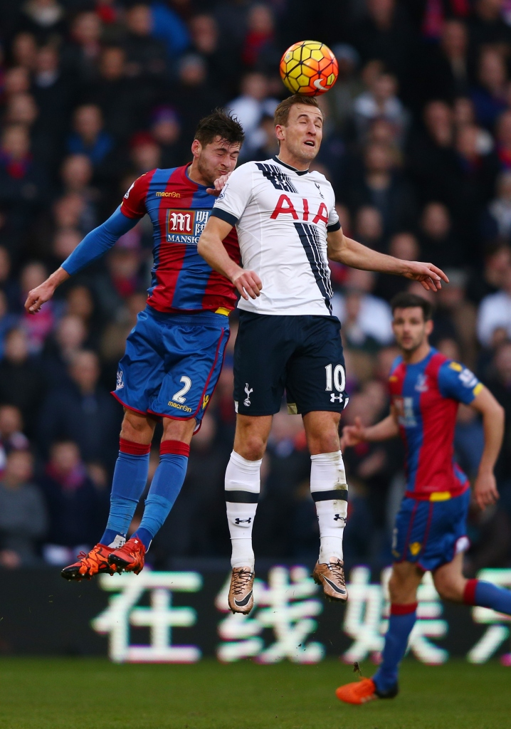 during the Barclays Premier League match between Crystal Palace and Tottenham Hotspur at Selhurst Park on January 23, 2016 in London, England.