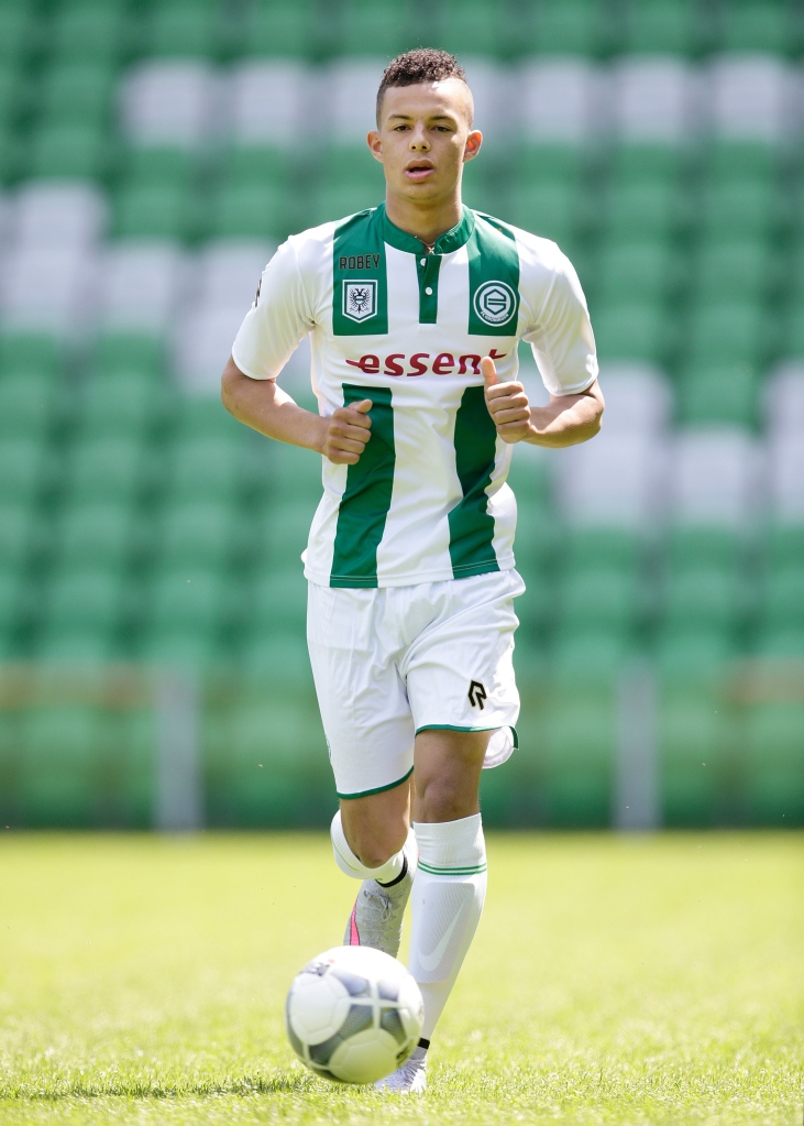 Desevio Payne during the team presentation of FC Groningen on June 29, 2015 at the Euroborg in Groningen, The Netherlands.(Photo by VI Images via Getty Images)