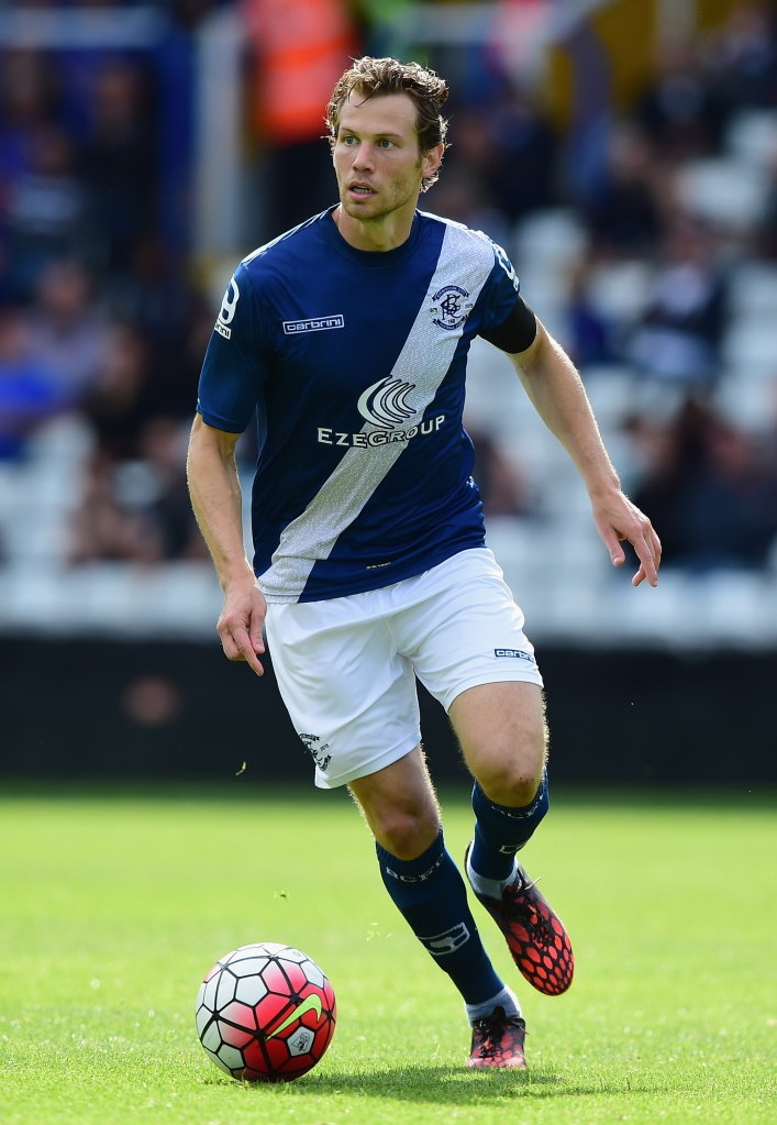BIRMINGHAM, ENGLAND - AUGUST 01:  Jonathan Spector of Birmingham City during the Pre-Season Friendly match between Birmingham City and Leicester City at St Andrews (stadium) on August 1, 2015 in Birmingham, England.  (Photo by Shaun Botterill/Getty Images)