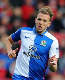 BRISTOL, ENGLAND - DECEMBER 5: Jordan Rhodes of Blackburn Rovers during the Sky Bet Championship match between Bristol City and Blackburn Rovers at Ashton Gate on December 5, 2015 in Bristol, England. (Photo by Harry Trump/Getty Images)