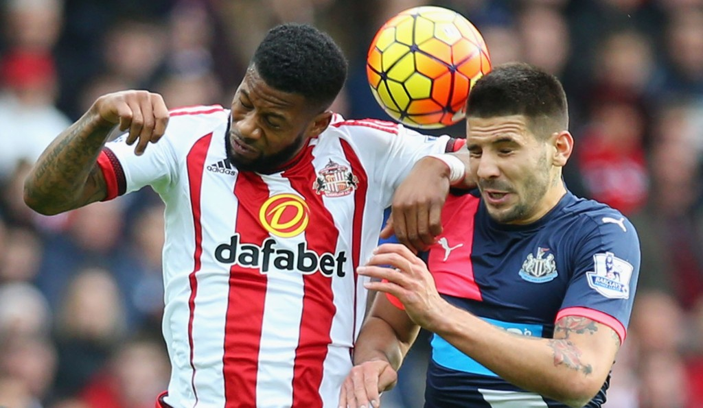 during the Barclays Premier League match between Sunderland and Newcastle United at Stadium of Light on October 25, 2015 in Sunderland, England.