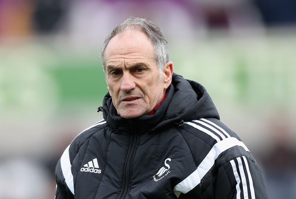 SWANSEA, WALES - FEBRUARY 13:  Francesco Guidolin, Manager of Swansea City looks on prior to the Barclays Premier League match between Swansea City and Southampton at Liberty Stadium on February 13, 2016 in Swansea, Wales.  (Photo by Ben Hoskins/Getty Images)