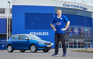 Leicester blue car