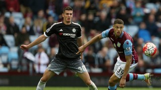 BIRMINGHAM, ENGLAND - APRIL 02: Matt Miazga of Chelsea and Rudy Gestede of Aston Villa during the Barclays Premier League match between Aston Villa and Chelsea at Villa Park on April 2, 2016 in Birmingham, England. (Photo by James Baylis - AMA/Getty Images)