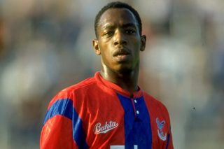 Jul 1991: Portrait of Ian Wright of Crystal Palace during a match played at Selhurst Park in London, England. Mandatory Credit: Ben Radford/Allsport