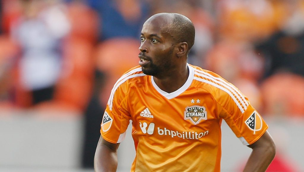 HOUSTON, TX - MARCH 13:  DaMarcus Beasley #7 of the Houston Dynamo in action during their game against the Orlando City SC at BBVA Compass Stadium on March 13, 2015 in Houston, Texas.  (Photo by Scott Halleran/Getty Images)