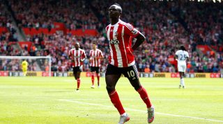 SOUTHAMPTON, ENGLAND - MAY 15: Sadio Mane of Southampton celebrates scoring his team's first goal during the Barclays Premier League match between Southampton and Crystal Palace at St Mary's Stadium on May 15, 2016 in Southampton, England. (Photo by Christopher Lee/Getty Images)