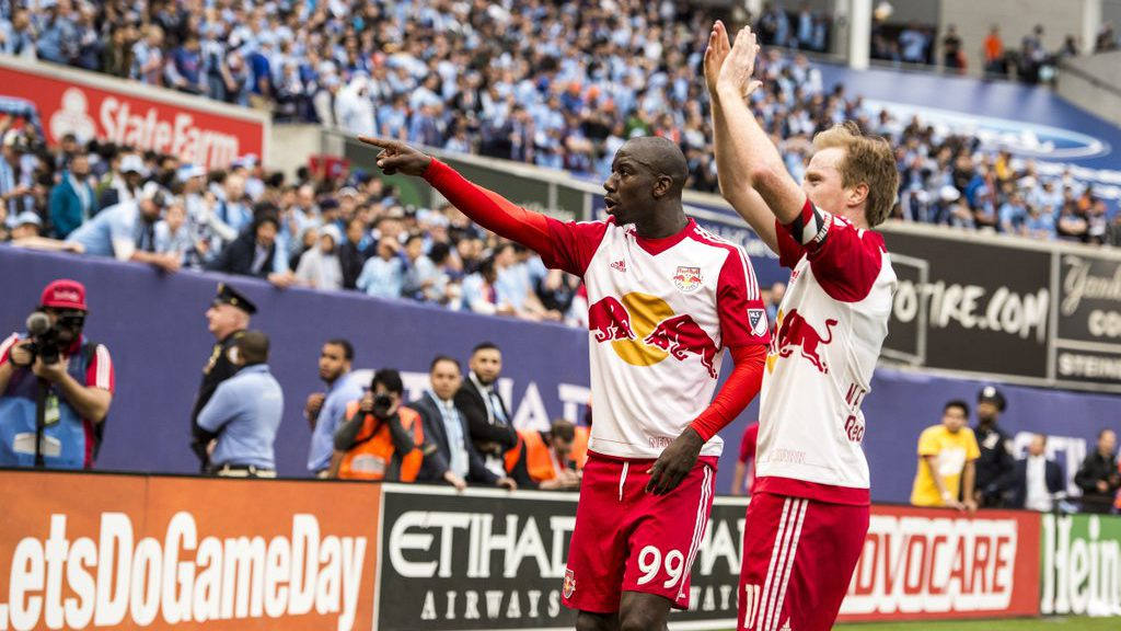 Bradley Wright-Phillips and Dax McCarty, New York Red Bulls (Photo credit: New York Red Bulls - Twitter: @NewYorkRedBulls)