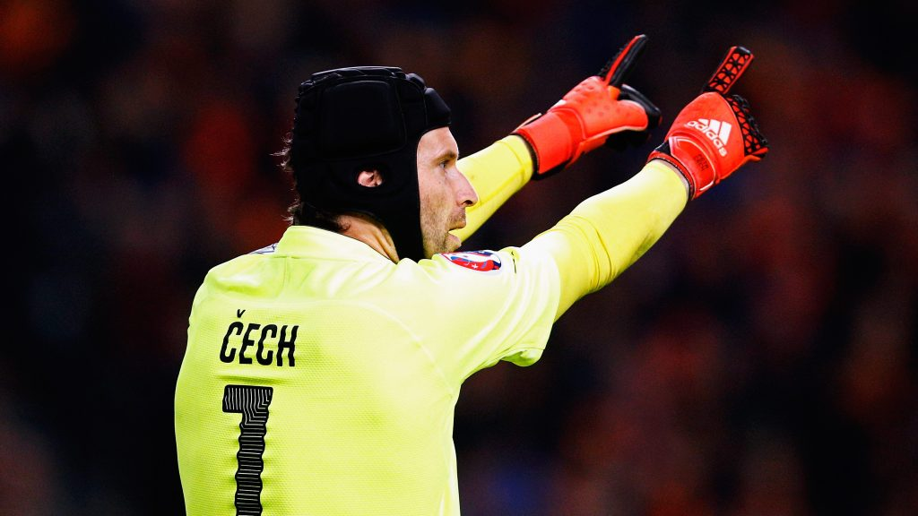 AMSTERDAM, NETHERLANDS - OCTOBER 13:  Petr Cech of the Czech Republic in action during the Group A, UEFA EURO 2016 qualifying match between Netherlands and Czech Republic held at Amsterdam Arena on October 13, 2015 in Amsterdam, Netherlands.  (Photo by Dean Mouhtaropoulos/Getty Images)