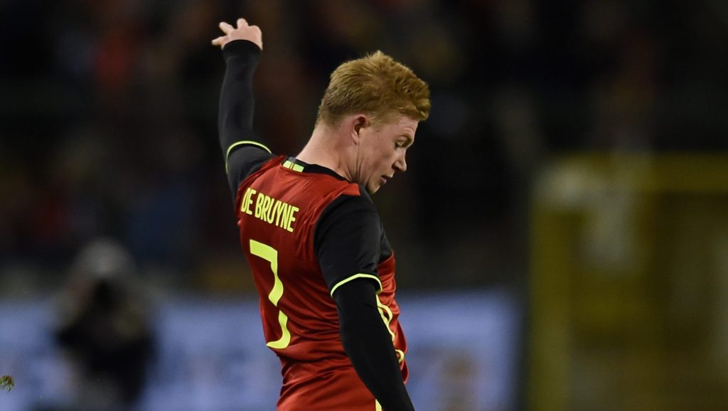 BRUSSELS, BELGIUM - NOVEMBER 13: Kevin De Bruyne of Belgium in action during the international friendly match between Belgium and Italy at King Baudouin Stadium on November 13, 2015 in Brussels, Belgium. (Photo by Claudio Villa/Getty Images)
