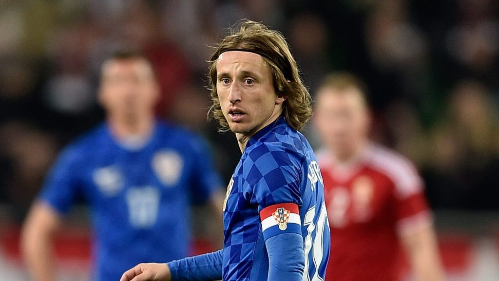 BUDAPEST, HUNGARY - MARCH 26:  Luka Modric of Croatia in action during the International Friendly match between Hungary and Croatia at Groupama Arena on March 26, 2016 in Budapest, Hungary.  (Photo by Dennis Grombkowski/Getty Images)