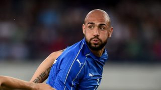VERONA, ITALY - JUNE 06: Simone Zaza of Italy (R) in action during the international friendly match between Italy and Finland on June 6, 2016 in Verona, Italy. (Photo by Claudio Villa/Getty Images)