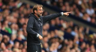 WEST BROMWICH, ENGLAND - MAY 15: Jurgen Klopp, manager of Liverpool gestures during the Barclays Premier League match between West Bromwich Albion and Liverpool at The Hawthorns on May 15, 2016 in West Bromwich, England. (Photo by Ben Hoskins/Getty Images)