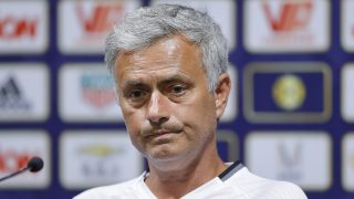SHANGHAI, CHINA - JULY 21: Manager Jose Mourinho of Manchester United looks on during a press conference as part of their pre-season tour of China at Shanghai Stadium on July 21, 2016 in Shanghai, China. (Photo by Lintao Zhang/Getty Images)
