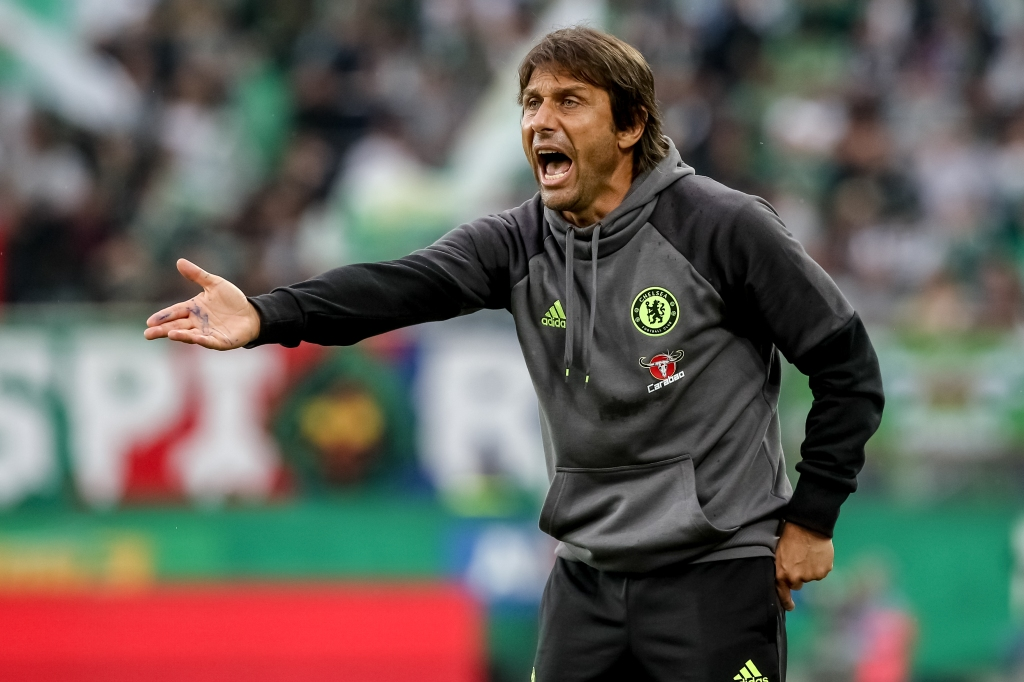 VIENNA, AUSTRIA - JULY 16: Head coach of Chelsea Antonio Conte gestures during an friendly match between SK Rapid Vienna and Chelsea F.C. at Allianz Stadion on July 16, 2016 in Vienna, Austria. (Photo by Matej Divizna/Getty Images)