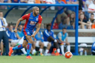 CINCINNATI, OH - JULY 16: Andros Townsend #17 of Crystal Palace FC controls the ball during the match against FC Cincinnati at Nippert Stadium on July 16, 2016 in Cincinnati, Ohio. Crystal Palace FC defeated FC Cincinnati 2-0. (Photo by Kirk Irwin/Getty Images)
