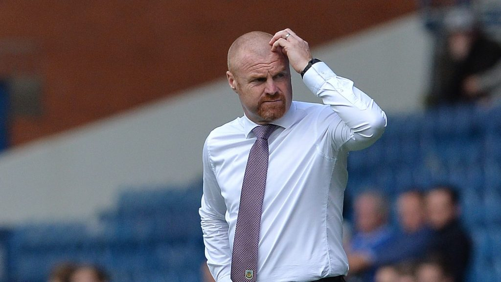 GLASGOW, SCOTLAND - JULY 30: Burnley manager Sean Dyche looks on during a pre-season friendly between Rangers FC and Burnley FC at Ibrox Stadium on July 30, 2016 in Glasgow, Scotland. (Photo by Mark Runnacles/Getty Images)