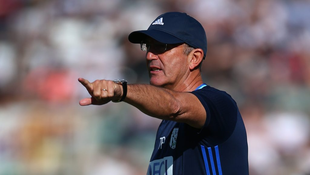 PLYMOUTH, ENGLAND - JULY 30:  Tony Pulis, manager of West Bromwich Albion gestures during the pre-season friendly between Plymouth and West Bromwich Albion at Home Park on July 30, 2016 in Plymouth, England.  (Photo by Jordan Mansfield/Getty Images)