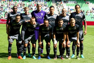 GRONINGEN, NETHERLANDS - JULY 30: The team of Southampton poses prior to the friendly match between FC Groningen an FC Southampton at Euroborg Stadium on July 30, 2016 in Groningen, Netherlands. (Photo by Christof Koepsel/Getty Images)