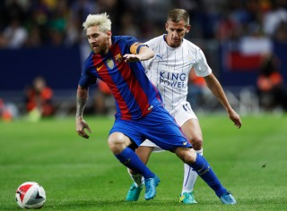 SOLNA, SWEDEN - AUGUST 03: Lionel Messi of FC Barcelona during the Pre-Season Friendly between Leicester City FC and FC Barcelona at Friends arena on August 3, 2016 in Solna, Sweden. (Photo by Nils Petter Nilsson/Ombrello/Getty Images)