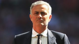 LONDON, ENGLAND - AUGUST 07: Manager of Manchester United, Jose Mourinho watches on during The FA Community Shield match between Leicester City and Manchester United at Wembley Stadium on August 7, 2016 in London, England. (Photo by Ben Hoskins/Getty Images)