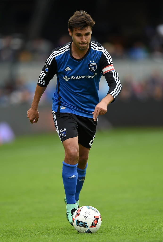 SAN JOSE, CA - MARCH 06: Chris Wondolowski #8 of San Jose Earthquakes looks to pass the ball towards the goal against Colorado Rapids during the second half of their MLS Soccer game at Avaya Stadium on March 6, 2016 in San Jose, California. (Photo by Thearon W. Henderson/Getty Images)