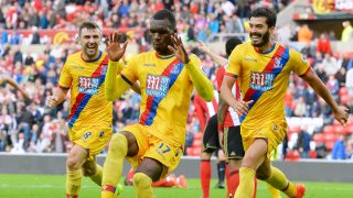 SUNDERLAND, ENGLAND - SEPTEMBER 24: Christian Benteke of Crystal Palace celebrates scoring his sides third goal during the Premier League match between Sunderland and Crystal Palace at the Stadium of Light on September 24, 2016 in Sunderland, England. (Photo by Mark Runnacles/Getty Images)