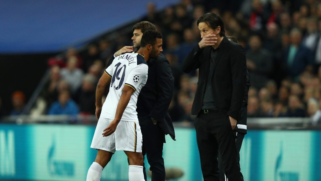 Tottenham has been ravaged by injuries, with the latest hitting Moussa Dembele in the midweek Champions League loss Photo by Ian Walton/Getty Images)