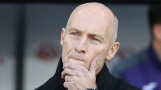 SWANSEA, WALES - NOVEMBER 26: Bob Bradley, Manager of Swansea City looks on prior to the Premier League match between Swansea City and Crystal Palace at Liberty Stadium on November 26, 2016 in Swansea, Wales. (Photo by Christopher Lee/Getty Images)