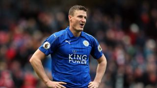 MIDDLESBROUGH, ENGLAND - JANUARY 02: Robert Huth of Leicester City reacts to the final whistle after the Premier League match between Middlesbrough and Leicester City at Riverside Stadium on January 2, 2017 in Middlesbrough, England. (Photo by Nigel Roddis/Getty Images)