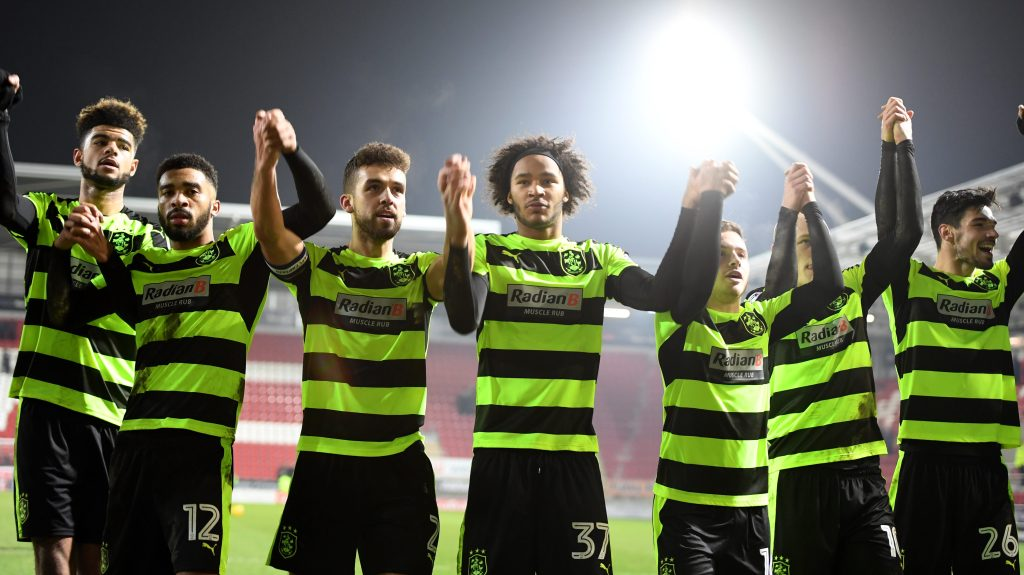 Huddersfield Town is on a roll in Championship play and could give Manchester City a good run. (Photo by Gareth Copley/Getty Images)