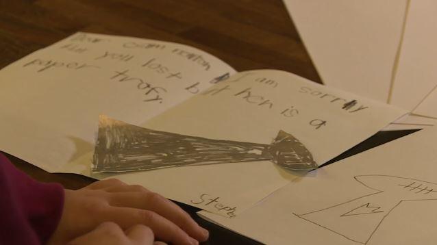 Cam newton kid's letter