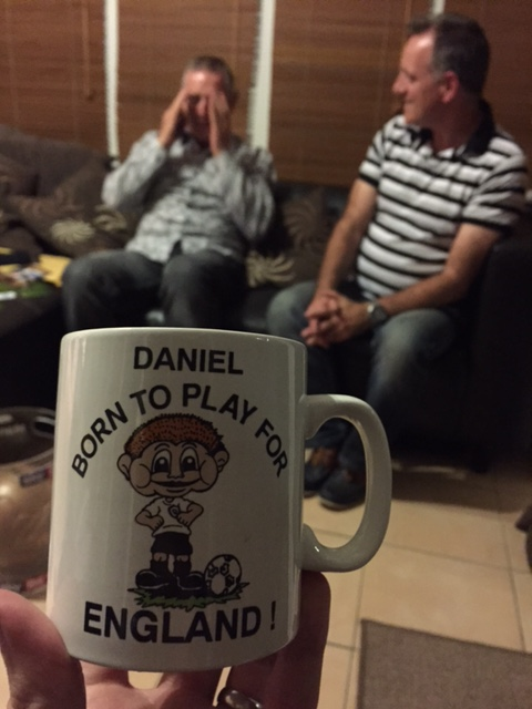 A prophetic mug used by the young Danny Ings. (Courtesy Photo)