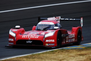 LE MANS, FRANCE - JUNE 11: The Nissan NISMO GT-R LM of Harry Tincknell, Michael Krumm and Alex Buncombe drives during qualifying for the Le Mans 24 Hour race at the Circuit de la Sarthe on June 11, 2015 in Le Mans, France. (Photo by Ker Robertson/Getty Images)