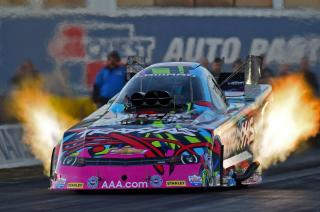 Courtney Force in action (Richard Shute/Auto Imagery)