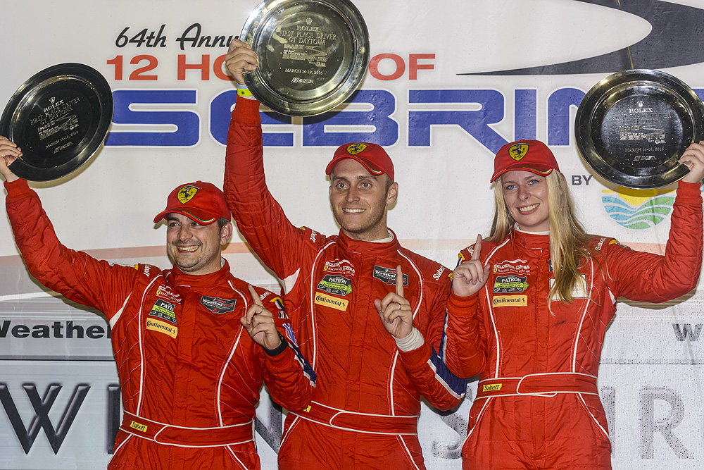 Balzan, Segal and Nielsen. Photo: Scuderia Corsa