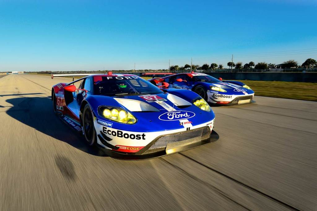 Ford GTs at Sebring. Photo courtesy of Michelin