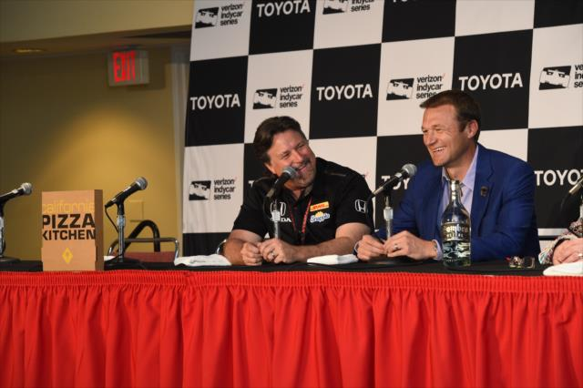 Andretti and Bell make partner announcement. Photo: INDYCAR