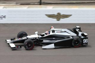 Rossi's early laps at Indy. Photo: IndyCar