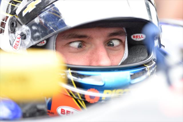 Brabham's funny face. Photo: IndyCar