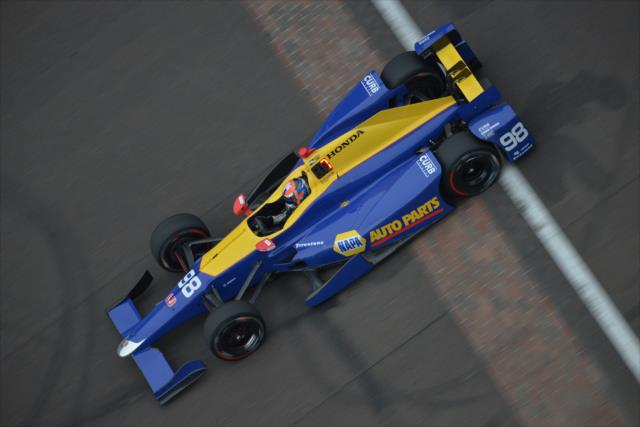 Rossi at the yard of Bricks. Photo: IndyCar